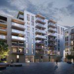 Illustrasjon av leilighetsbygg