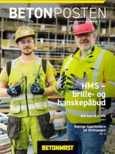 Bilde av første side av Betonposten nr 2 2020 - høst