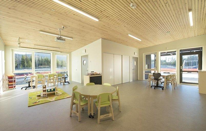 Foto av interiøret i Skredsvikmoen barnehage