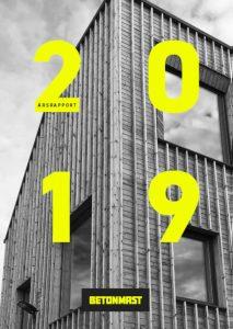 Forsiden av Betonmasts årsrapport for 2019
