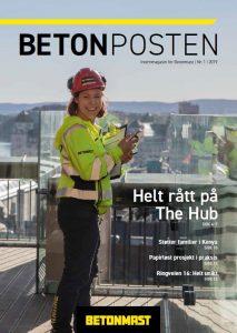 Forside Betonposten nr 2 2019 - påske