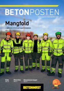 Forsida på Betonposten nr 1 2021 - påske