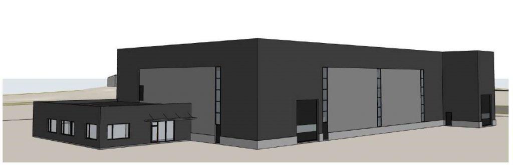 Illustrasjon av produksjonsbygg