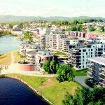 Illustrasjonsbilde av boligområde med elv