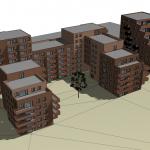 Illustrasjon av boligbygg